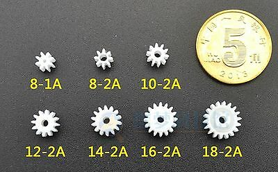 New 50pcs  Spindle gear  Toy small motor plastic nylon gear