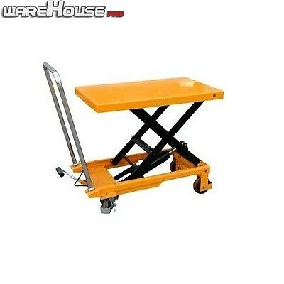 150KG NEW Manual Scissor Lift Table -Table Size 700x450mm-Table Height 750mm