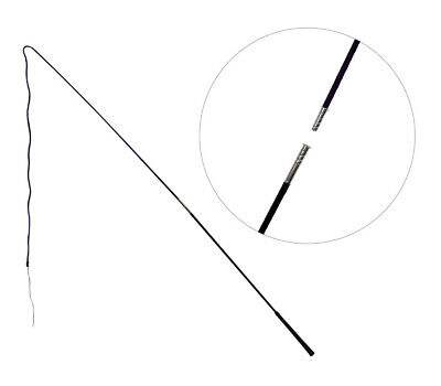 Showmaster Lunge Whip 160cm 2 piece Black Training lunging driving