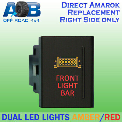 Amarok Push Switch A1C12R FRONT LIGHT BAR on-off dual LED red VW Volkswagen RIGH