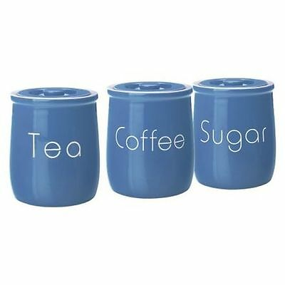 NEW Maxwell & Williams Chef du Monde Canister (Set of 3) in Blue