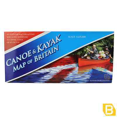 Canoe & Kayak Map of Britain - Double sided waterways paddle Outdoor Accessories