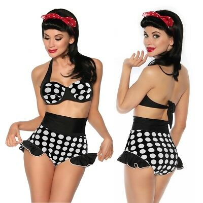 Vintage Push Up Bikini Retro 50er Rockabilly Pin UP Bademode S M L XL Neu Top