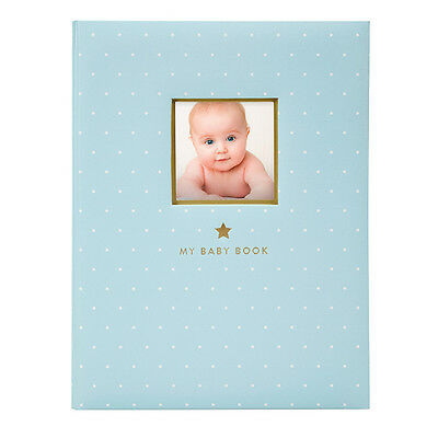 Pearhead Sweet Welcome Baby Book/Album - Contemporary Baby Record Book - Blue!