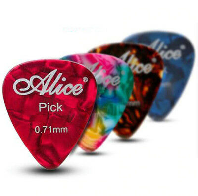 Set 12 x Guitar Picks Plectrums Celluloid Acoustic Electric Bass Choose Size