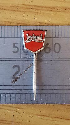 Original Miniature Red Leyland Lapel Stick Pin Badge 1950's New Old Stock