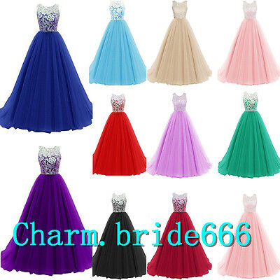 Stock Chiffon Formal Wedding Evening Party Ball Gown Prom Bridesmaid Dress 6-20