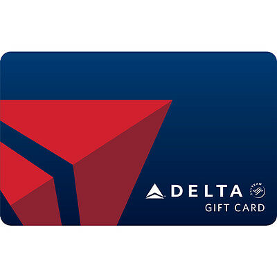 $100 Delta Air Lines Physical Gift Card - Standard 1st Class Mail Delivery