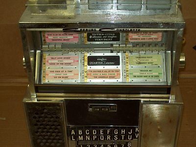 Seeburg SC1 Wallbox.Jukebox