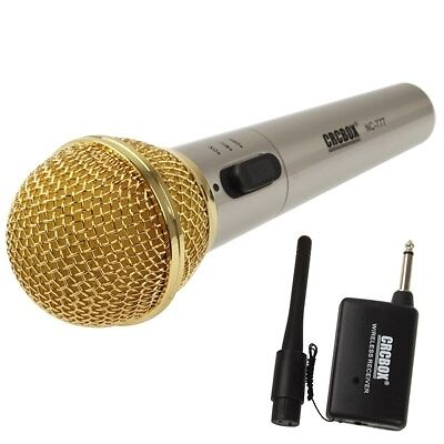 HI-TECH Handheld Wireless / Wired Microphone with Receiver & Antenna, Effective