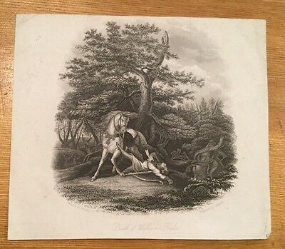 c1860 - Death Of William Rufus - Engraving.