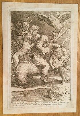1732 - Witches, Grotesques - After Parmigiano, Engraved By Picart.