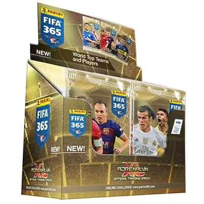 BOX PANINI ADRENALYN XL FIFA 365 (50 X BOOSTER) Plus a list of all players