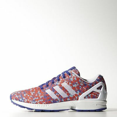 the best attitude bc7dc 73585 New Mens Adidas Originals Zx Flux Weave Shoes B34473 Night Flashwhite