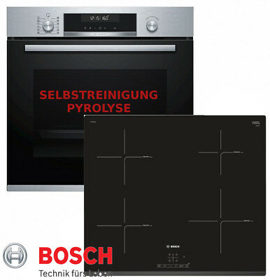herdset autark bosch backofen pyrolyse schwarz induktion. Black Bedroom Furniture Sets. Home Design Ideas