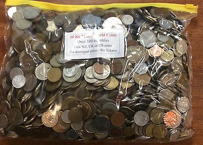 World coins bulk mix approx 10kg (1800+ coins) great bargain- yellow top