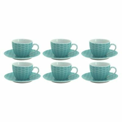 NEW NF Living Spice Espresso Cup & Saucer (Set of 6) in Brown, Green