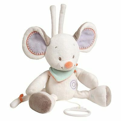 NEW Nattou Bubbles Musical Pull-String Mouse