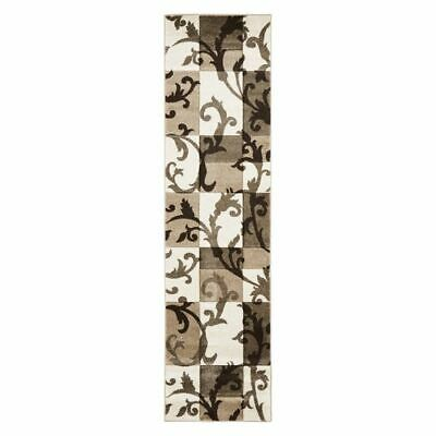 NEW Rug Culture Icon Decoupage Crema Runner Rug