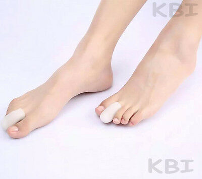 1 Pair Reusable Soft Gel Toe Caps Cover Toe Protector Blisters Corns Pain Relief
