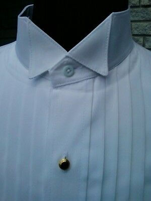 New for Men.   Formal Dress or Tuxedo Shirt. Standard Collar or Wingtip Collar.