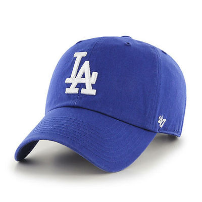 Los Angeles Dodgers 47 Brand Clean Up Strap Adjustable Field Blue Hat Cap MLB