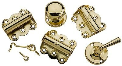 National Hardware N100-018 V1771 Screen Door Hardware Kit, Bright Brass