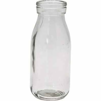 Hobbycraft Glass Milk Bottle 250 ml Cocktail Liquid Container Party Decoration