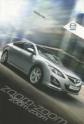 Mazda 6 Takuya Special Edition UK Brochure 2010 4 Page Fold Out 2.0 & 2.2D