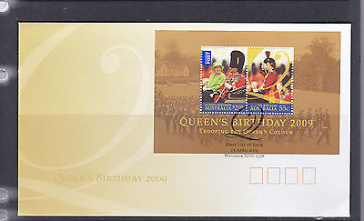 Fdc: Queens Birthday Sheetlet   2009