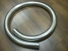 "50mm 2"" Flexible Polylock Stainless Steel Flexi Tube 1/2 Metre Exhaust Universal"