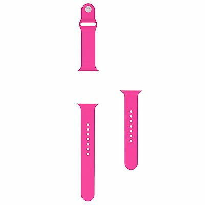 Apple Watch Band,MoKo Soft Silicon Replacement Sport Band Barbie Pink(095653)CXX
