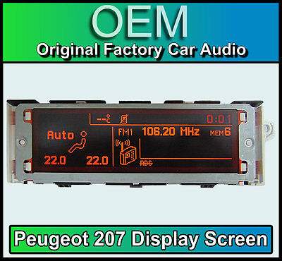 Peugeot 207 display screen, RD4 stereo LCD Multi function clock dash Brand New!!