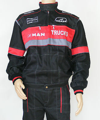 MAN Overalls Embroidered Logo on Front and Back size M L XL XXL XXXL