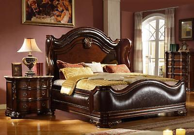 Mcferran RB3000 Imperial Eastern King size Bedroom set 3.pc Traditional Style