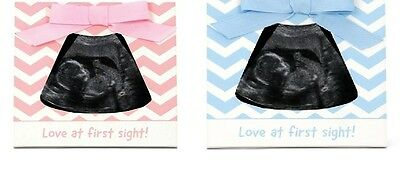 Ultrasound Scan Sonogram Photo Frame Chevron Newborn Girl Boy Baby Shower Gift