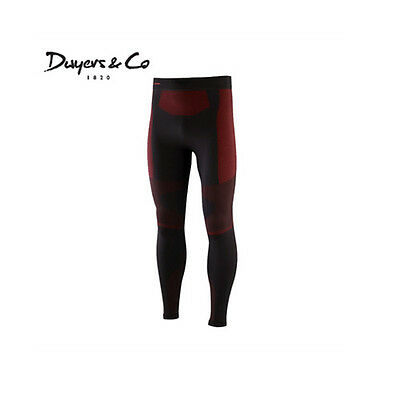 Dwyers & Co Thermal Base Layer Leggings - Black/Red
