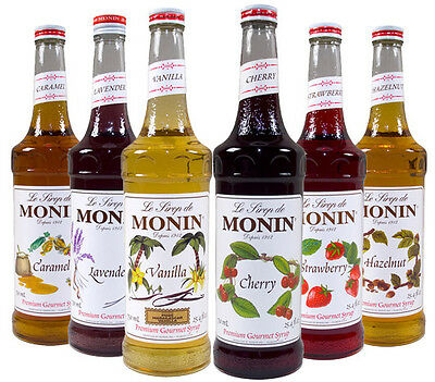 Monin Coffee Syrups 70cl Glass Bottles - Pump Available - USED BY COSTA COFFEE