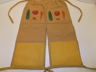 Heavy Canvas Gardening Apron Pants With Kneeler Pads Nwot