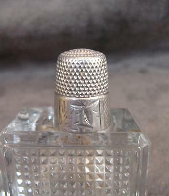 Antique Sterling Silver Thimble Simon Bros Size 10