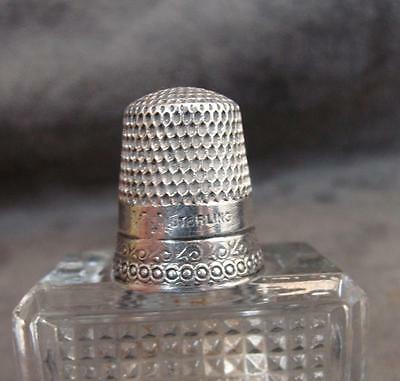 Antique Art Nouveau Sterling Silver Thimble Stearn  Brothers Size 10