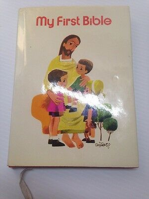 My First Bible by Regina Press 1974 illust by P. Ghijsens Author Ruth Hannon