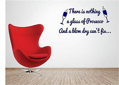 Hairdresser Prosecco vinyl wall art QUOTE sticker blow dry barbers hair salon