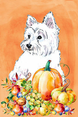 Westie Fall Westie Garden Flag Free Ship Usa Rescue