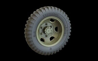 PANZER ART,1:35, RE35-317 Road Wheels Studebaker US6 Truck (Firestone)-12 pcs