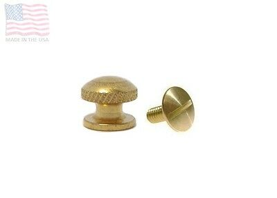 Arm Guard Shock Cord Button Head Stud & Screw, Solid Brass, USBind, 1 5 10 Sets