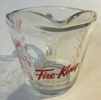 Fire King Anchor Hocking 1 Cup Measuring Cup 250 ml