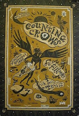Counting Crows & Train | Fillmore| Bill Graham #F235 - Orig. 1996 Concert Poster