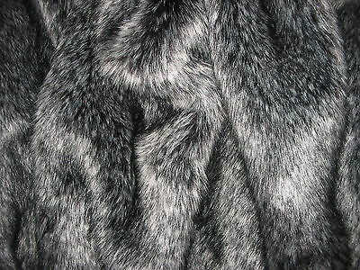 Silver Fox Faux Fur Fabric, Xsoft, Deep Pile, 2 Yards For Throw/blanket/rug/coat