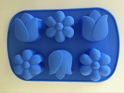 Large Silicone Soap / Candle Molds including 3x tulip & 3x daisy moulds